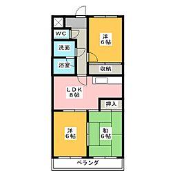 長谷川マンションEAST[3階]の間取り