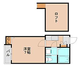 ピュア箱崎拾壱番館[2階]の間取り