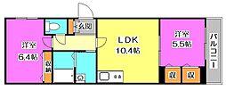 東京都東村山市本町2丁目の賃貸アパートの間取り