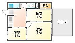 兵庫県神戸市垂水区下畑町字下代の賃貸アパートの間取り