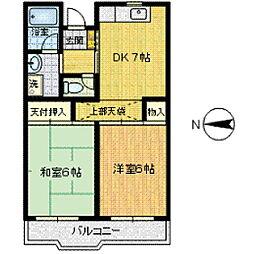 エミネンス須山[402号室]の間取り