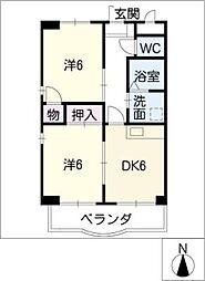 NOVAゆたか[2階]の間取り