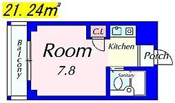 エースマンション[403号室]の間取り