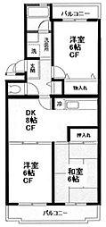 いずみ野駅徒歩5分 エスポワールいずみ野503号室[5階]の間取り