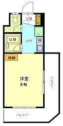 飯能市川寺 第2新井マンション[3階]の間取り