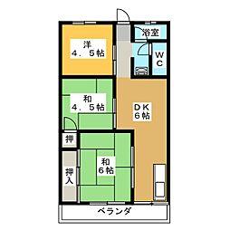 メゾンスギエイ[2階]の間取り