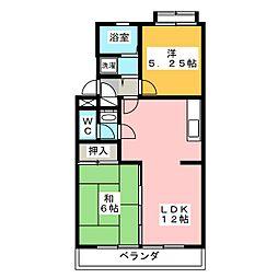 パラシオン城下[3階]の間取り