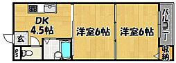 大阪府大阪市東淀川区東淡路4丁目の賃貸マンションの間取り