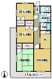 清水山第1パークハイツ[0208号室]の間取り