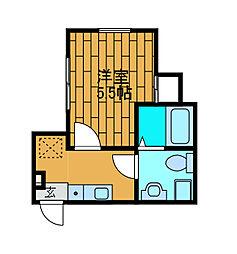 神奈川県相模原市中央区東淵野辺3丁目の賃貸アパートの間取り