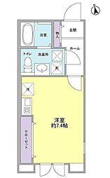 東京都大田区南千束2丁目の賃貸アパートの間取り
