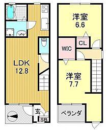 [一戸建] 大阪府大阪市平野区喜連4丁目 の賃貸【/】の間取り