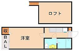 リヴェール別府[2階]の間取り
