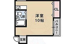 フェローズ21 2階ワンルームの間取り