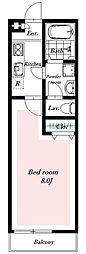 埼玉県八潮市大瀬2の賃貸アパートの間取り