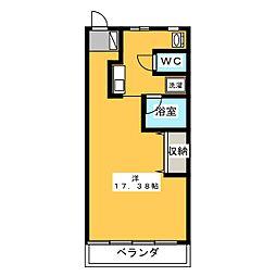 錦コート[2階]の間取り