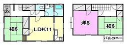 [一戸建] 愛媛県松山市三町3丁目 の賃貸【/】の間取り