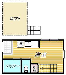 東京都中野区東中野2丁目の賃貸アパートの間取り