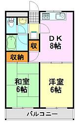 千葉県千葉市中央区星久喜町の賃貸マンションの間取り