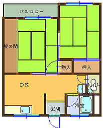 追田マンション[102号室]の間取り