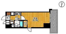 グランピア鍋島[201号室]の間取り