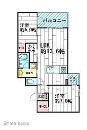 ロイスブランシェ[3階]の間取り