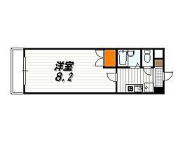 パラシオン京都[801号室]の間取り