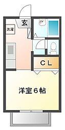 サニーテラス甲子園一番町[2階]の間取り