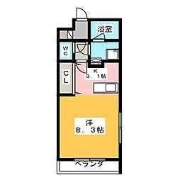 ボヌール新栄[1階]の間取り