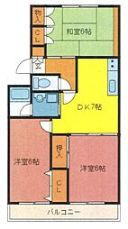 埼玉県さいたま市浦和区木崎4丁目の賃貸マンションの間取り