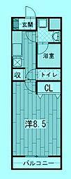 ベルドミール[3階]の間取り