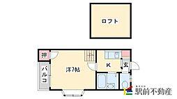 メゾネット桜ケ丘[102号室]の間取り