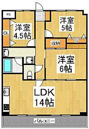 JUN青葉町コート[2階]の間取り