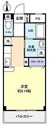 フラワー5号館[2階]の間取り