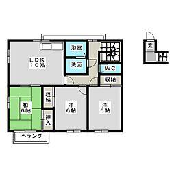 メゾンサンシャイン B棟[2階]の間取り