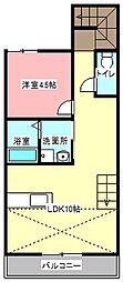 TIME'S萩丘[2階]の間取り