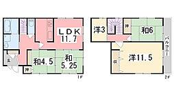 [一戸建] 兵庫県姫路市花田町上原田 の賃貸【兵庫県 / 姫路市】の間取り