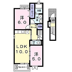 カーサ デ・ブローテA[2階]の間取り