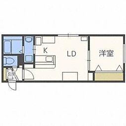 北海道札幌市東区北十七条東8丁目の賃貸マンションの間取り