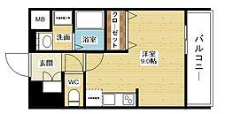 comforespa新大阪[3階]の間取り