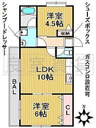 愛知県名古屋市千種区池上町1丁目の賃貸マンションの間取り
