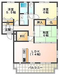 ボナールコートM[2階]の間取り