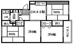 ライズィングマンション B棟[301号室]の間取り