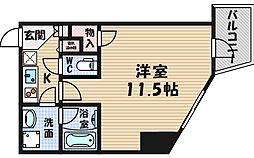 エコロジー立売堀レジデンス[13階]の間取り