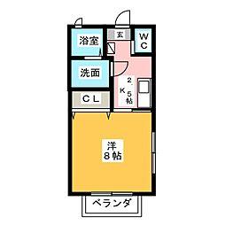 ラ・メゾンフォーレ[2階]の間取り