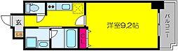 JR阪和線 津久野駅 徒歩7分の賃貸マンション 9階1Kの間取り