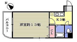いわき6番館[8階]の間取り
