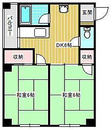 たきがわマンション[5階]の間取り
