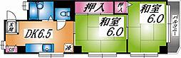 兵庫県神戸市灘区水道筋6丁目の賃貸マンションの間取り