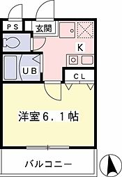 TS橋本ビル[202号室]の間取り